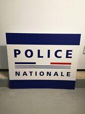 Panneau PVC Police Nationale tricolore 40 x 60 cm - Neuf et propre