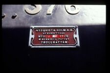 PHOTO  NUMBERPLATE OF NYDQVIST & HOLM NO 1163 ATM KESR 1980