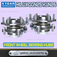 TWO FRONT WHEEL BEARING HUB HUBS ASSEMBLY FOR TOYOTA HILUX 4WD 4X4 KUN26R GGN25R
