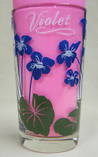 Violet Peanut Butter Glass Glasses Drinking Kitchen Mauzy 31-4