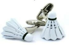 Badminton Shuttlecock Cufflinks Sport Birdie Sports Racket + Free Box & Cleaner