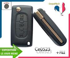 Coque Télécommande Plip Phare Citroen C4 Picasso Ce0523 Cle Sans Rainure + PILE