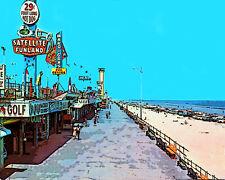 Daytona Beach Boardwalk Florida Pop Art Canvas 16 x 20