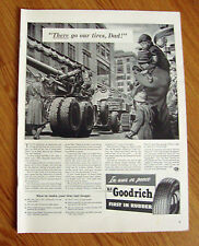 1942 B F Goodrich Tire Ad  WW II Theme