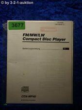 Sony Bedienungsanleitung CDX MP40 CD Player (#3677)