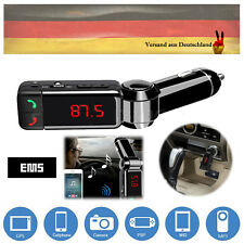 USB Bluetooth FM Transmitter Auto KFZ Ladegerät LED MP3 Player AUX IN für iPhone