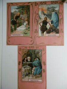 Wagner - SIEGFRIED - Set of 6 early chromolithographic scenes - rare