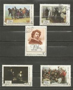 RUSSIA -1969 The 125th Birth Anniversary of I.E.Repin - CTO COMPLETE SET.