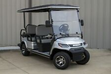 NEW 2021 Silver / Gray 48V Electric Golf Cart 6 Passenger Limo Disc Brakes