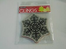HERO ARTS DOTTED SNOWFLAKE CG462 CLING CLEAR RUBBER STAMPS NEW A1040