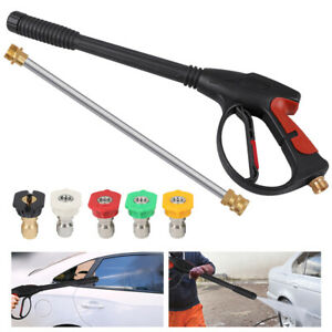 4000PSI High Pressure Car Power Washer Spray Gun Wand Lance Nozzle Tips Hose Kit