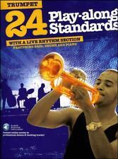 24 Play-Along Standards Trumpet Jazz Sheet Music Book/Audio SAME DAY DISPATCH