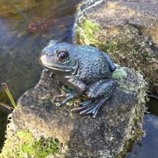 Skulptur Frosch Brunnendekoration - Teichfiguren Frösche Dekoration Gartenteich