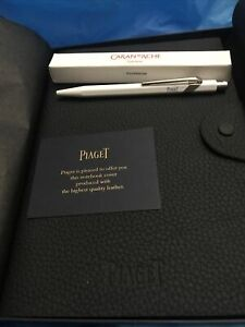 New Piaget Watch Brand Leather Notebook Note Pad White Caran Dache Pen