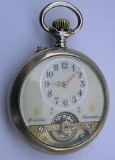 GOOD ANTIQUE HEBDOMAS 8 DAYS MEN'S POCKET WATCH SWISS 1900's WORKING