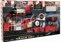 FAO Schwarz 30-Piece Motorized Classic Train Set. (18ft of Track) NEW IN BOX