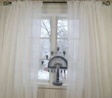 Vorhang LIA Weiß Gardinen Schal 130x240 cm Crincle Look Loft Shabby Vintage