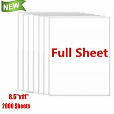 2000 Full Sheet Shipping Address Labels 85x11 Self Adhesive For Laser Ink Jet
