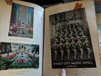 Philately 1956 Scrapbook Fipex, Broadway NY Ephemera  + Eisenhower letter