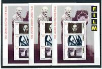 3 x Bund Block Nr. 33 postfrisch 1815 - 1817 BRD 100 Jahre deutscher Film 1995