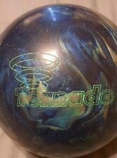 Vintage Ebonite Tornado 11 Pound Bowling Ball Navy/Turquoise