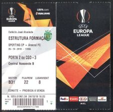Ticket - Europa League - Sporting - Arsenal - 2018/19