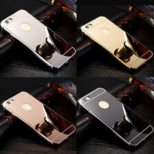 Cover PC Back Cover Luxury Mirror case Metal Aluminum For iPhone 4 4S 6 6S