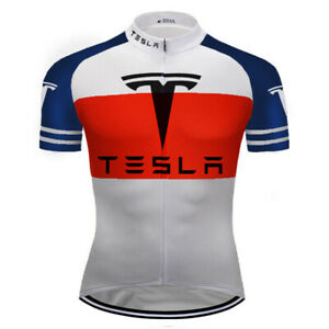 Cycling Jersey Bicycle Shirt Short Sleeve Bike Sports Wear Top Tesla Road Jacket