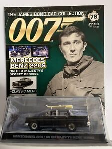 EAGLEMOSS JAMES BOND CAR COLLECTION ISSUE 78 MERCEDES BENZ 220S OHMSS - NEW