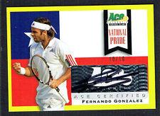 Fernando Gonzalez #NP-FG1 signed autograph auto 2013 Ace National Pride 10/10