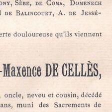 François Xavier Louis Maxence De Cellès Marseille Avignon 1898