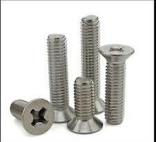 Stainless Steel Flat Head Phillips Machine Screws #10-24 x 1