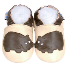 Toddler Shoes Soft Sole Leather Baby Infant Children Kid HippoBeige Shoes 6-12M