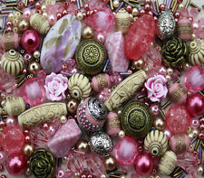 Pink Cream Pearl Jewellery Making Beads Mix Starter Kit Set - 80g