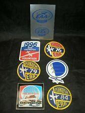 Vintage Eaa Oshkosh Experimental Aircraft Assoc. Patch Sticker Lot