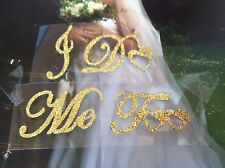 I Do + Me Too Gold Glitter Wedding Shoe Sticker Sparkly Easy to use Post Free