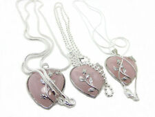 Handmade Rose Quartz Heart Costume Necklaces & Pendants