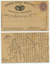 51157 - Mexiko - Ganzsache - Postkarte - Laredo 9.2.1887 nach Mexico