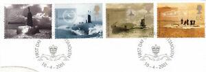 (89776) GB Used Submarines 2001 ON PIECE