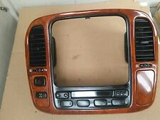 LEXUS LX470 REAR A/C CONTROL ASSEMBLY   W/WOOD GRAIN BEZEL AC VENT