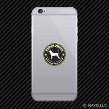 Proud Owner American Black and Tan Coonhound Cell Phone Sticker Mobile Die Cut