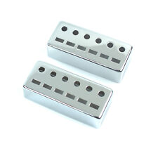 Vintage Japanese Guitar Teisco Style Metal Pickup Cover ,chrome / Both 52mm (2)