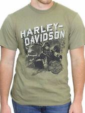 Harley Davidson t shirt nuevo modelo Harley Davidson Skull bike verde oliva