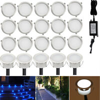 20pcs/set 12V IP67 31mm Outdoor Garden Yard Stair Path Inground LED Deck Lights