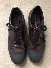 Prada Leather rubber Brogue Uk6 Eu40 Black Brown Lace Up