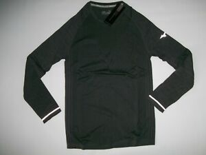 MIZUNO Gray BREATH Thermo Seamless Long Sleeve Fitness SHIRT Mens Size LARGE NEW