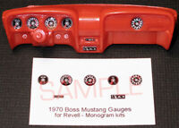1970 BOSS 302 and 429 MUSTANG GAUGE FACES for 1/24 scale REVELL - MONOGRAM KITS