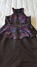 CITY CHIC BAROQUE FEVER PEPLUM DRESS, PLUS SIZE M (18)