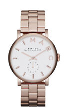Women's Rose Gold-Tone Marc Jacobs Baker Stainless Steel Watch MBM3244