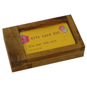 Gift Card holder puzzle box
